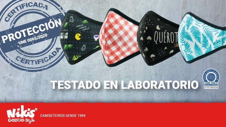 Mascarillas testadas en laboratorio
